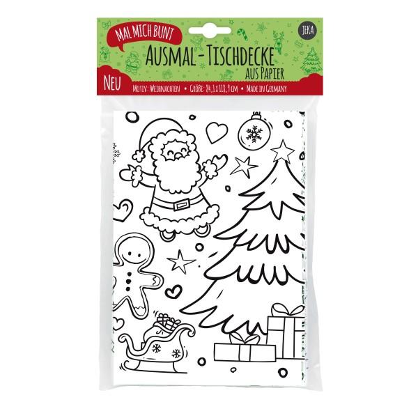 """Ausmal-Tischdecke aus Papier """"Weihnachten"""""""