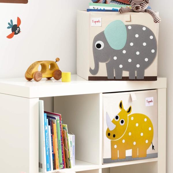 Aufbewahrungsbox fürs Kinderzimmer - Motiv: Elefant